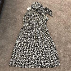 Shoshanna black and white dress